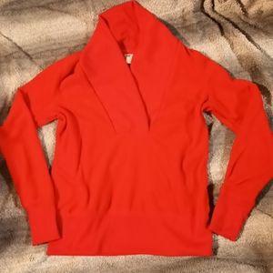 Old Navy red fleece sweater XS